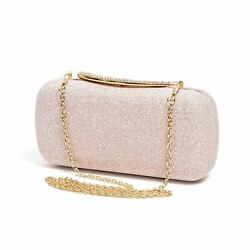 Lady Couture Women's Brooke Stunning Evening Clutch Purse Champagne