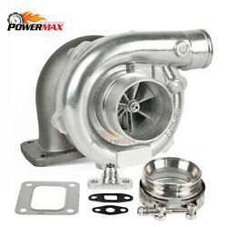 T67 Universal Billet Wheel Turbo Charger T4 .81 Ar P Trim + Flange + Clamp