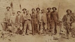 Antique African American Laborer Appalachian Iron Forge Waterboy West Va Photo