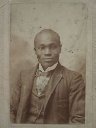 Antique African American We All Loved Joe Heart Of Gold Artistic Man Ky Photo