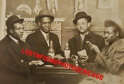 Antique Vintage African American Gamblers Poker Face Artistic Fine Rppc Photo
