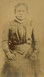 Victorian African American Photo Harriet Tubman Lookalike Concave Glass Rare