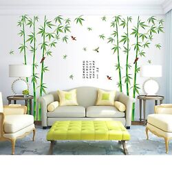 Wall Vinyl Bamboo Sticker Tree Decals Artificial Forest Wallpaper Home Bedroom