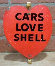 Original Old Cars Love Shell Gas Station Pink/red Heart Spinner Advertising Sign