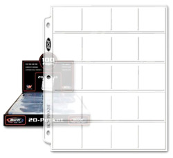 Bcw Pro 20-pocket Pages Size 2x2 Coin Collecting Supplies Storage Holder Money