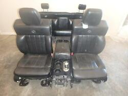 04-08 F150 HARLEY DAVIDSON BLACK LEATHER POWER HEATED SEATS AND DOOR PANELS