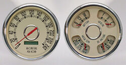 New Vintage Usa Direct Fit Gauge Package,fits 1947-53 Chevy Truck,kilometers,kph