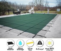 Gli Promesh Rectangle Inground Swimming Pool Safety Cover - Choose Color And Size