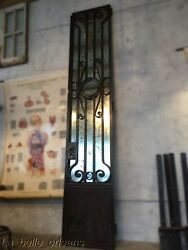 Superb Antique Architectural Wrought Iron Front Door / Mirror. Must See