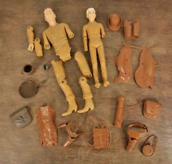 Marx Vintage Lot Of 12 Inch Johnny West Jay West Accessories