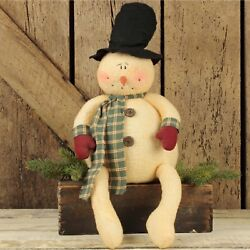 Chubby Frosty Snowman With Dangle Legs Christmas Winter Decoration Honey And Me