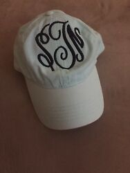 PERSONALIZED MONOGRAMMED WOMEN#x27;S BASEBALL CAP HAT GREAT FOR BEACH amp; BRIDESMAIDS $14.99