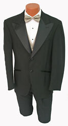 Menand039s Black Bill Blass Tuxedo With Pants Champagne Vest And Bow Tie Wedding Prom