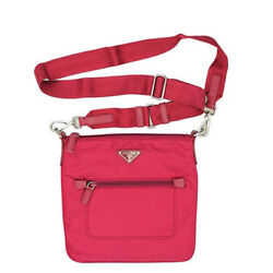 PRADA Women's Small Pink Nylon Cross Body Bag BT0715 NWT