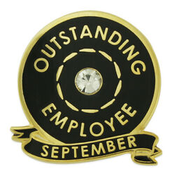 Pinmartand039s Outstanding Employee Of The Month September W/ Rhinestone Lapel Pin