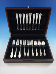 Hannah Hull By Tuttle Sterling Silver Flatware Set For 8 Service 32 Pieces