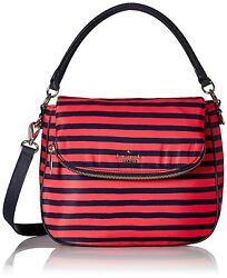Kate Spade Women Classic Nylon Small Devin Crossbody Bag Black  GeraniumNavy