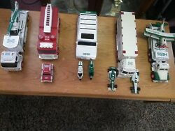 Set Of 5 Hess Trucks 2002-2006 Used But In Good Condition