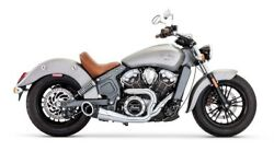 Indian Scout Freedom Exhaust 21 Turn Out Black