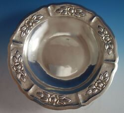 Aztec Rose By Maciel Mexican Mexico Sterling Silver Fruit Bowl 15466/9 1785