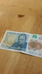 Ak47 Early First Run Serial Brand New Uncirculated Polymer Andpound5 Five Pound Note