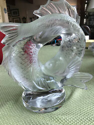 Lalique Crystal Two Poissons Double Fish