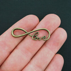 8 Infinity Charms Antique Bronze Tone Love Infinity - Bc973
