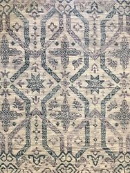 Marvelous Modern - Contemporary Rug - Transitional Indian Carpet - 10.2 x 14 ft