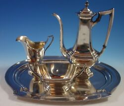 Washington By Wallace Sterling Silver Demitasse Set 3pc With Tray 1721
