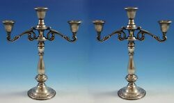 Angelique By International Sterling Silver Candelabra Pair 127/65 3-lite 1890