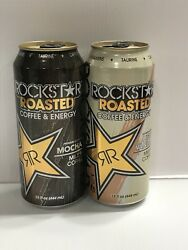 Rockstar Energy Drink Roasted Light Vanilla And Mocha Empty Collector Cans.
