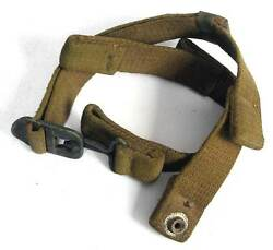 Us Paratrooper Helmet Chinstrap M2 Ww2 Fixed D-bale Airborne Wwii Helm Aged Para
