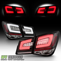 Black 2012 2016 Chevy Cruze Lumileds LED Tail Lights Brake Lamps Pair LeftRight
