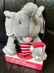 Coca Cola Advertising Plush Elephant Mint On Box W/tags 1993 Play By Play
