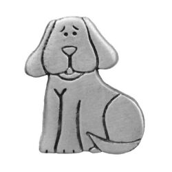 Dog Pewter Clutch Pin 3325CP $13.49