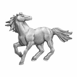 Horse Stallion Running Pewter Clutch Pin 3823CP $16.99