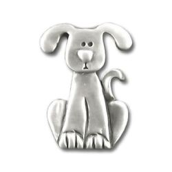 Dog with Drop Ears Pewter Clutch Pin 3997CP $12.49