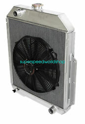 3row Aluminum Racing Radiator+16 Fan For 48-52 Ford F1-f8 Truck W/chevy L6/v8