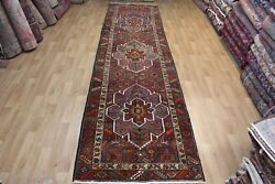 Antique Persian Heriz Runner Long Ruggreat Design Superb Colour 14 X 3and03910 Ft