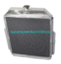 3 Row Aluminum Racing Radiator For 48-52 Ford F1-f8 Truck W/chevy L6/v8