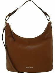 Michael Kors Women's Large Lupita Leather Hobo Bag Shoulder Tote