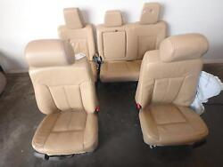 2011-2016 Ford F250 F350 Superduty Tan Leather Lariat Front And Rear Seats Driver