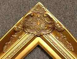 4 Gold Leaf Wood Antique Picture Frame Wide Photo Art Gallery B9g