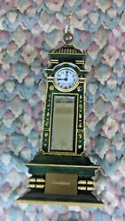Kb Clock 4 Time Zone Scully And Scully Quartz Clocks 14.5 Tall Very Rare Green