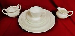 45 Piece Sevres White By Coalport Made In England Dinnerware Set