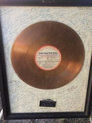 Armed Forces Radio 1953 Gold Presentation Record Signed By Ww2 And Korean War Djs