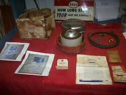Vintage 1940and039s Nos Gazda Octanator Accessory Air Cleaner Kit In Original Box