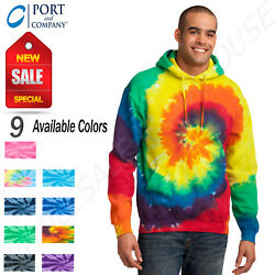 Port And Company Tie-dye Pullover Hooded Sweatshirt With Pockets M-pc146