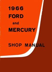 1966 Ford and Mercury Shop Service Repair Manual