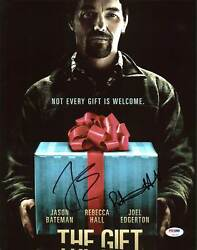 Joel Edgerton & Rebecca Hall The Gift Authentic Signed 11X14 Photo PSA #Z92246
